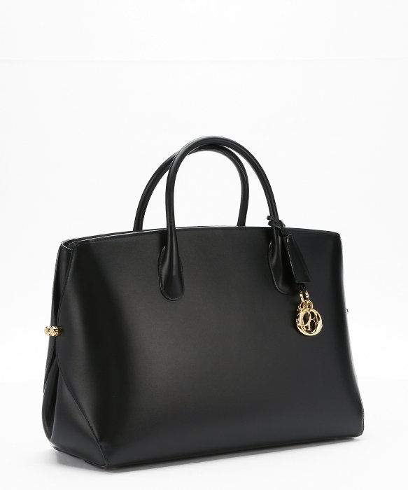 Dior Black Leather Large Structured Tote Bag in Black | Lyst