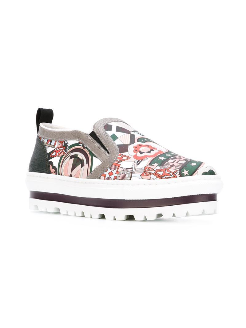 MSGM Platform Slip On Sneakers - Lyst