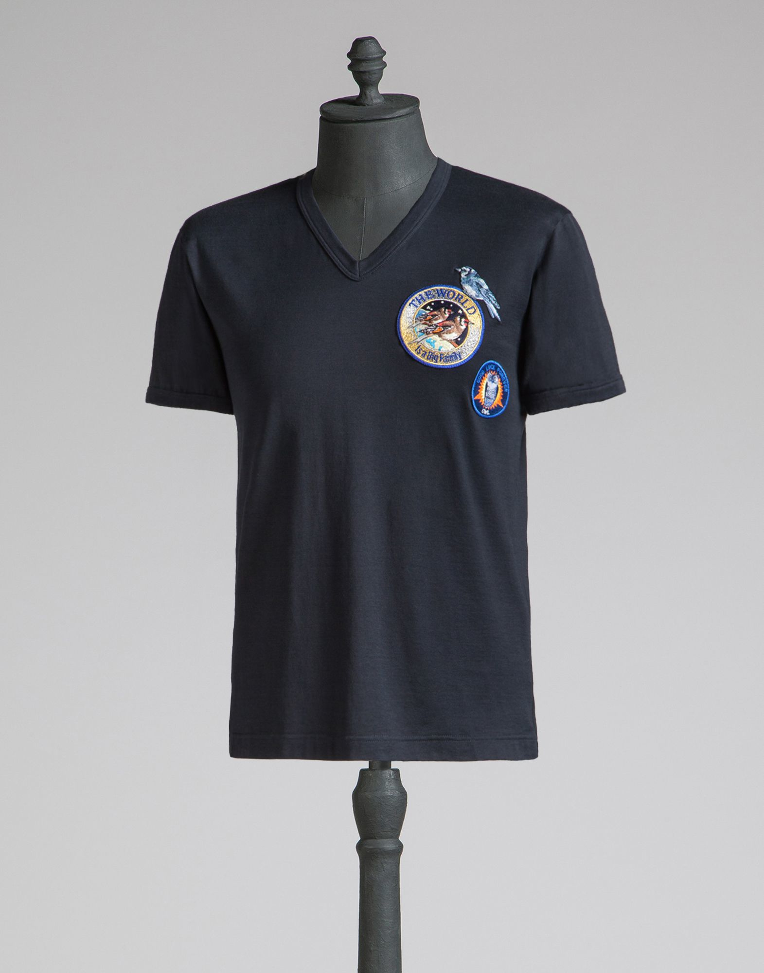 Lyst dolce gabbana t shirt with embroidered patches in