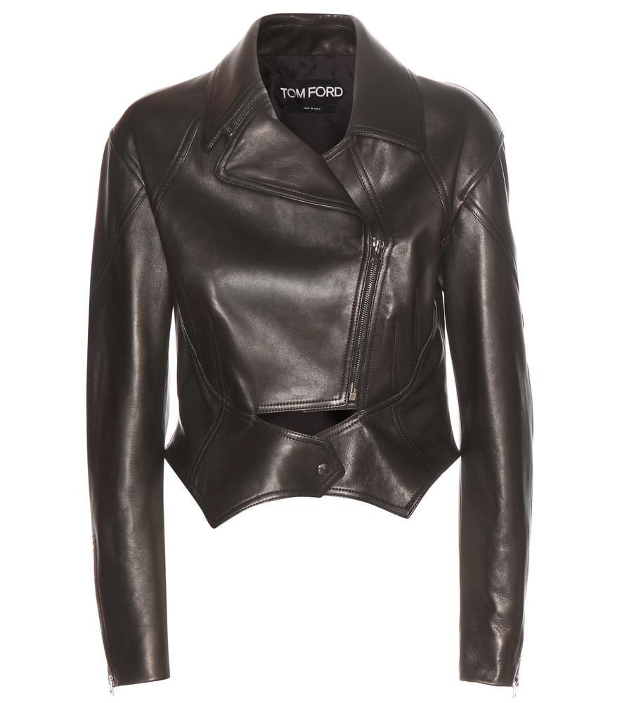 tom ford leather biker jacket in black lyst. Black Bedroom Furniture Sets. Home Design Ideas