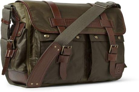 Waxed Cotton Shoulder Bag 113