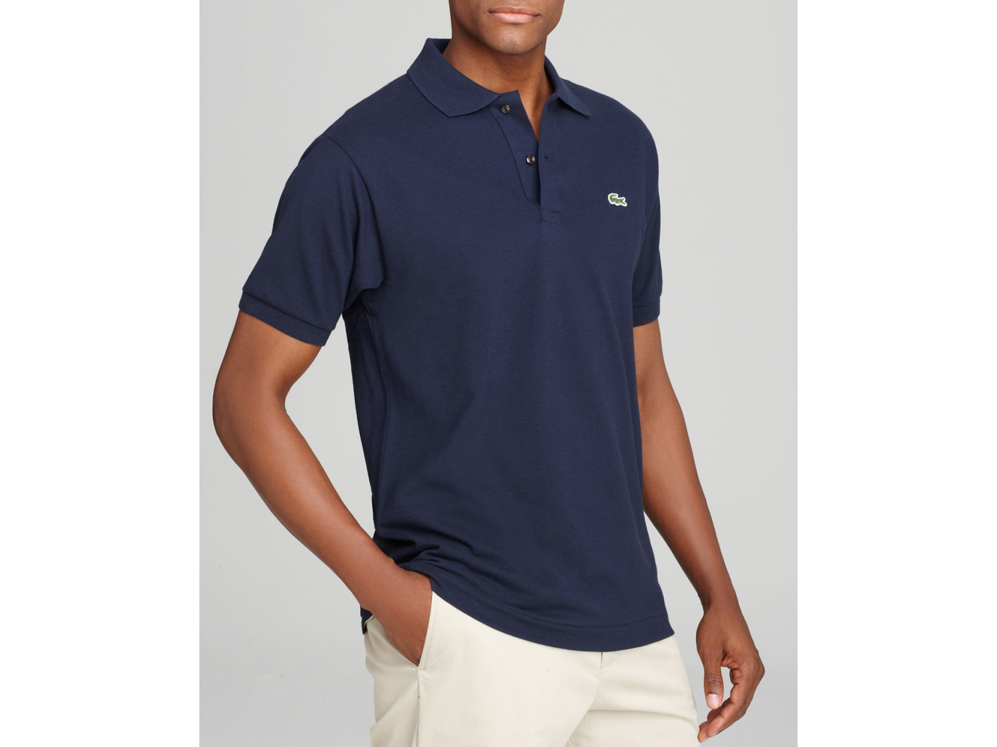 Lacoste Classic Short Sleeve Piqu Polo Shirt In Blue For
