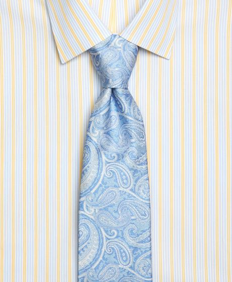 Woven Paisley Tie in Blue
