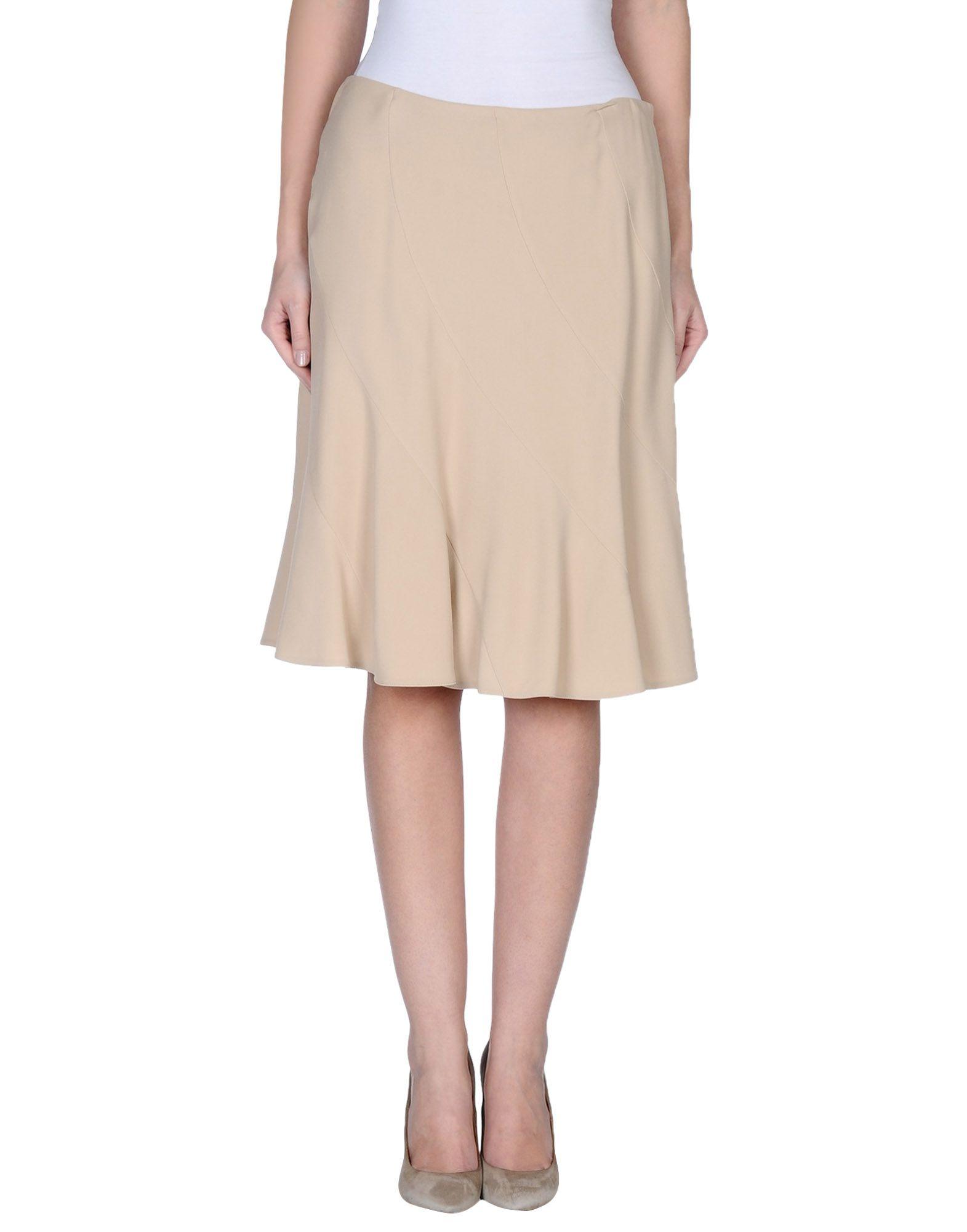 valentino knee length skirt in beige lyst
