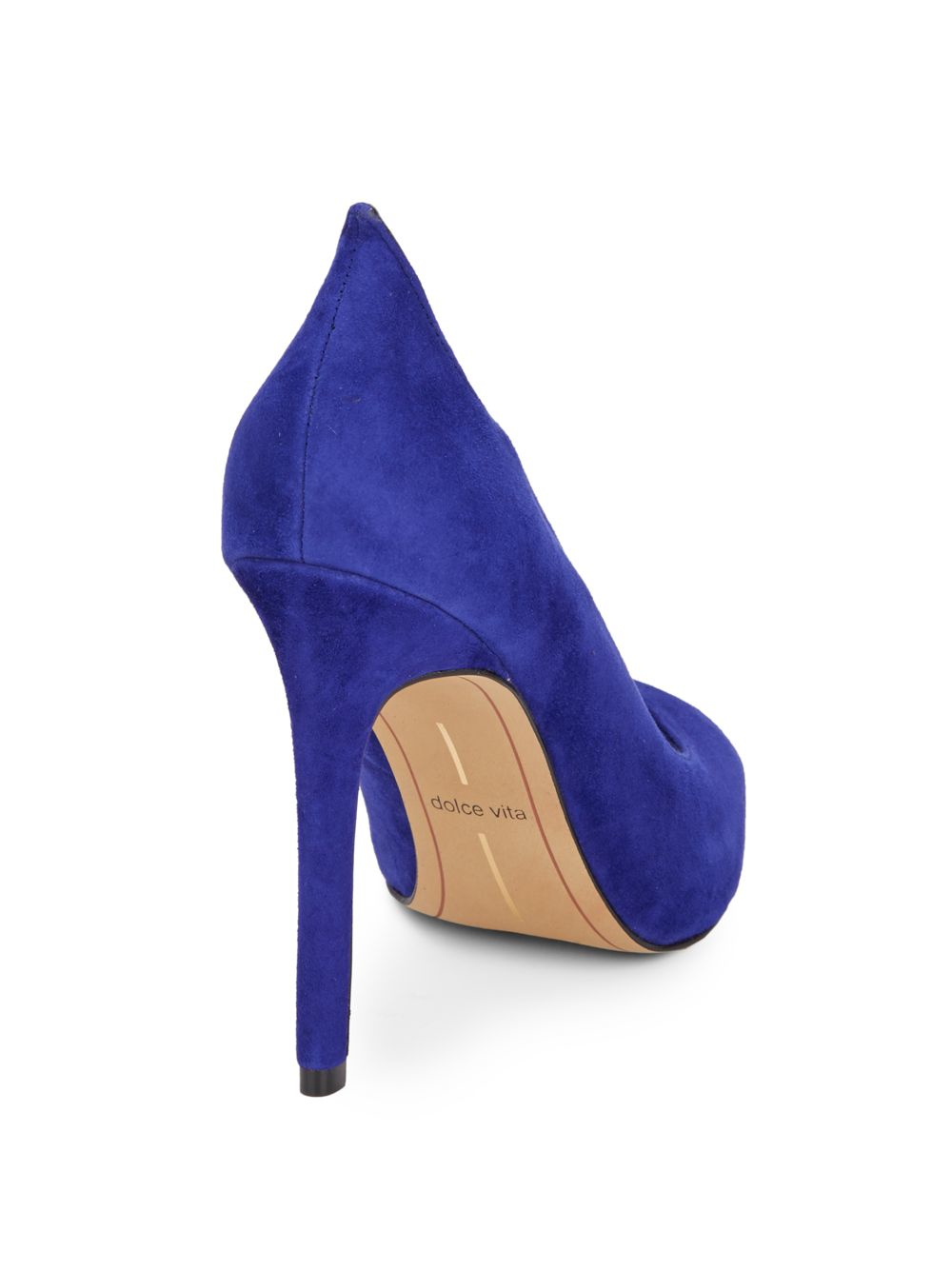 59e8a922f1 DV by Dolce Vita Isabel Suede Peep Toe Pumps in Blue - Lyst