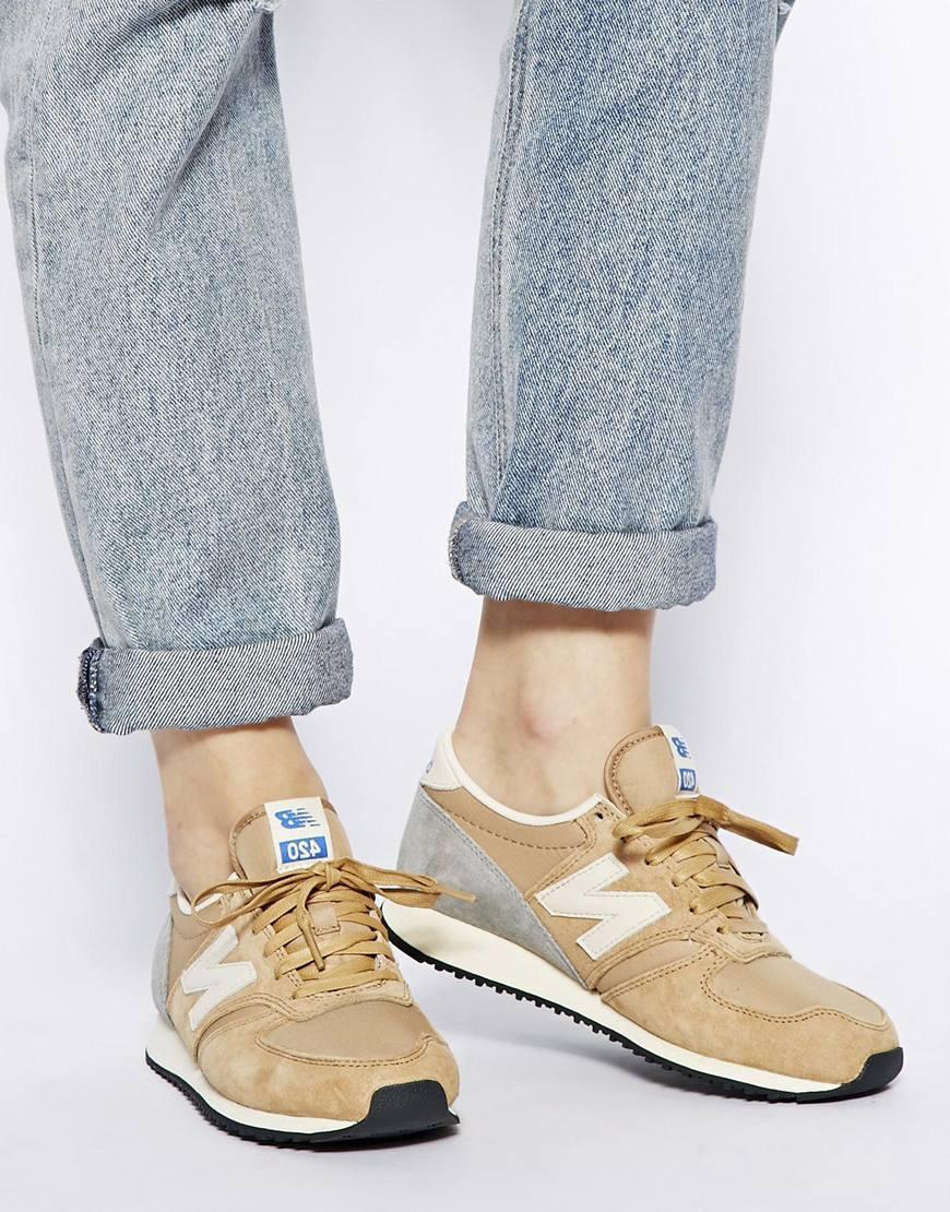 new balance khaki 420 trainers cheap online