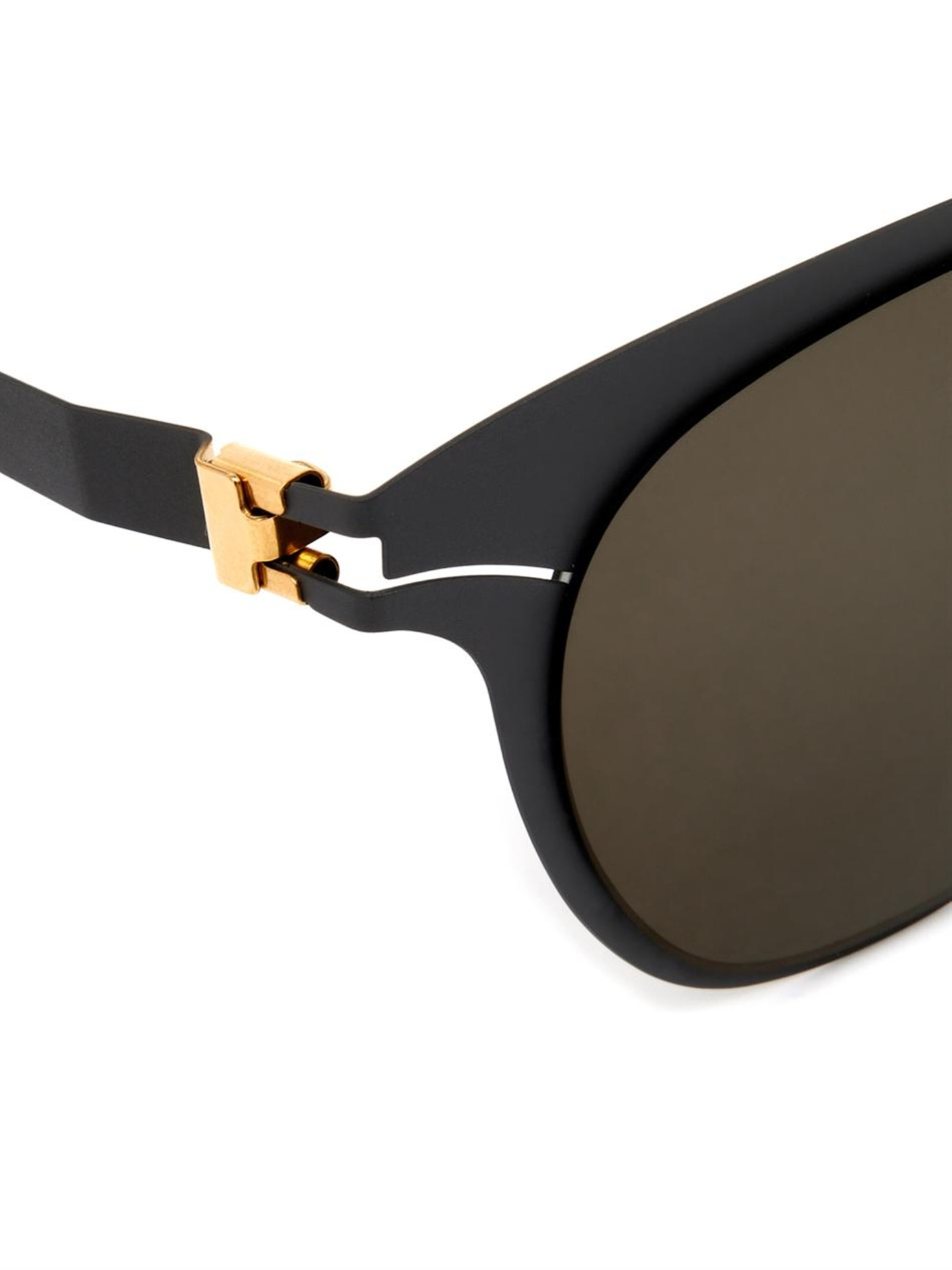 Mykita Mareike Stainless-Steel Sunglasses in Dark Grey (Grey)