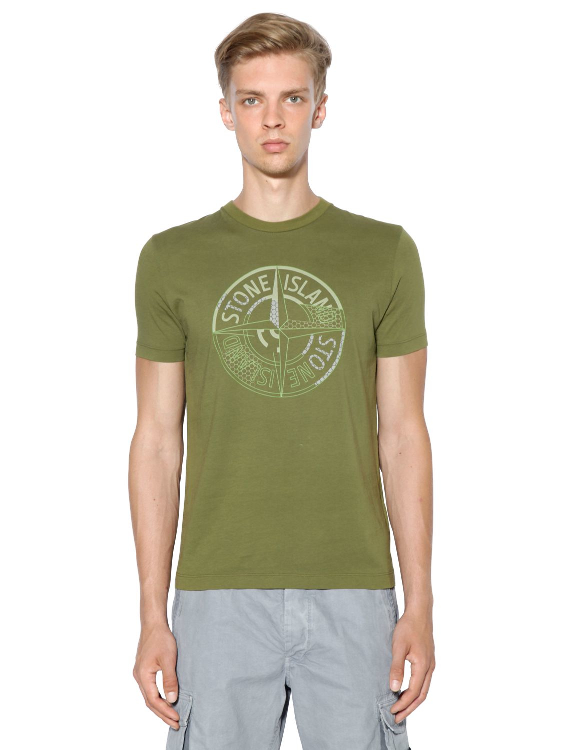 Logo-print cotton-jersey T-shirt Stone Island Pay With Visa Cheap Online Limited Edition 0wrGazz7K