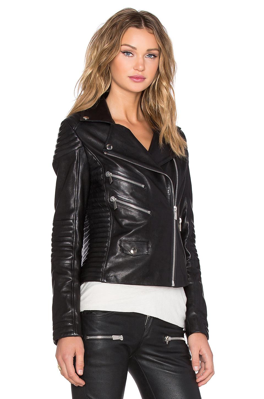 Lyst Anine Bing Biker Leather Jacket In Black