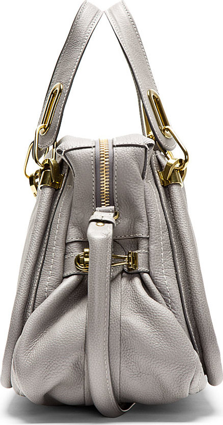Chlo¨¦ Grey Calfskin Paraty Medium Shoulder Bag in Gray (grey) | Lyst