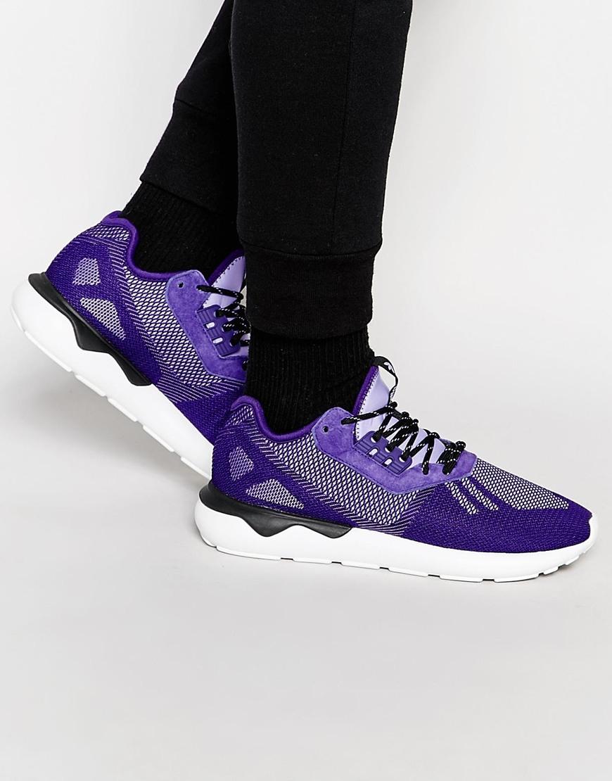 separation shoes 6ae1a b752e adidas tubular runner weave purple