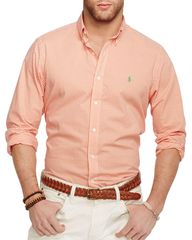 4f681cd4118 australia ralph lauren pink gingham mens shirt 9cd30 caf18  promo code for lyst  ralph lauren gingham poplin button down shirt regular fit 5a759 855a5