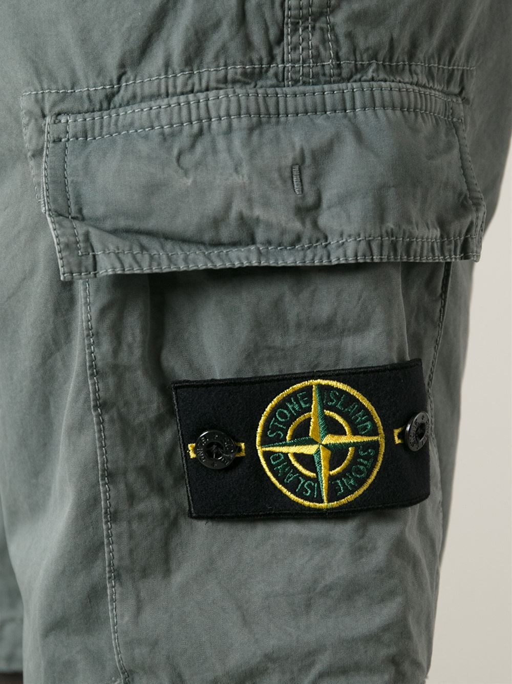 lyst stone island cargo shorts in gray for men