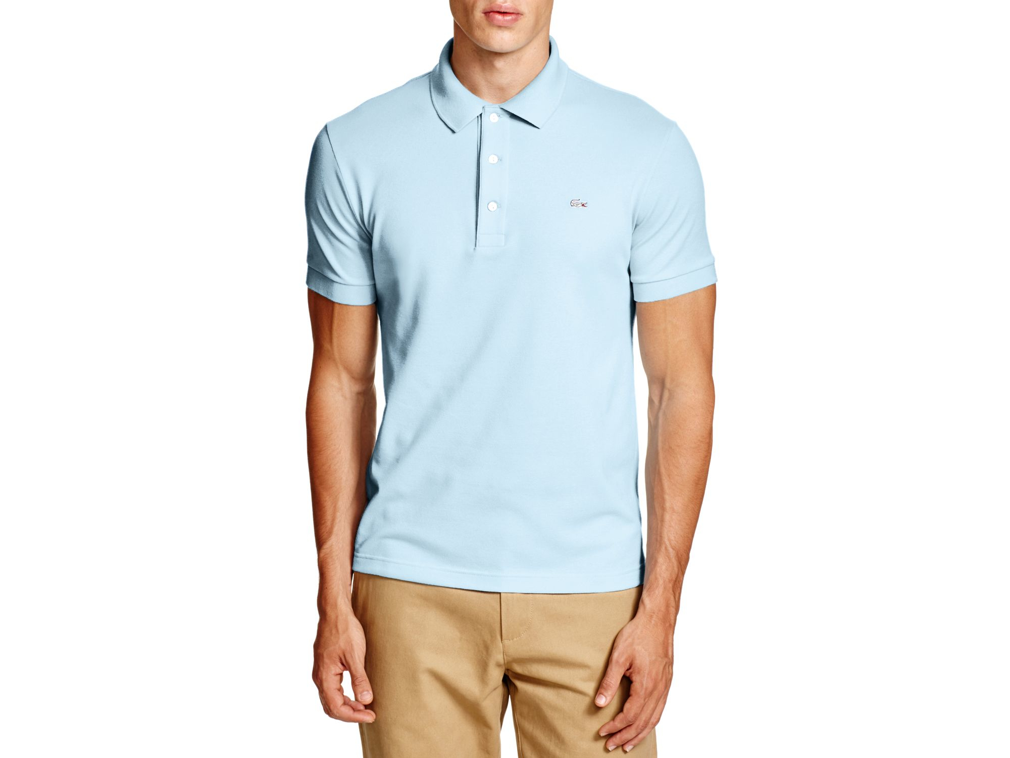 9f93346cc0b5e8 Lacoste Stretch Slim Fit Polo in Blue for Men - Lyst