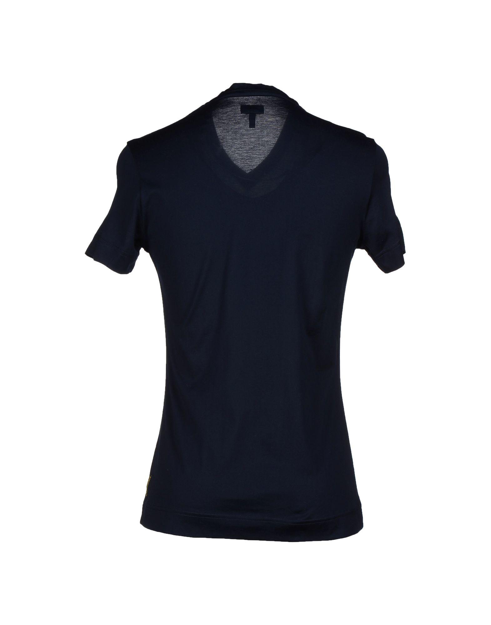 armani jeans t shirt in blue for men dark blue lyst. Black Bedroom Furniture Sets. Home Design Ideas