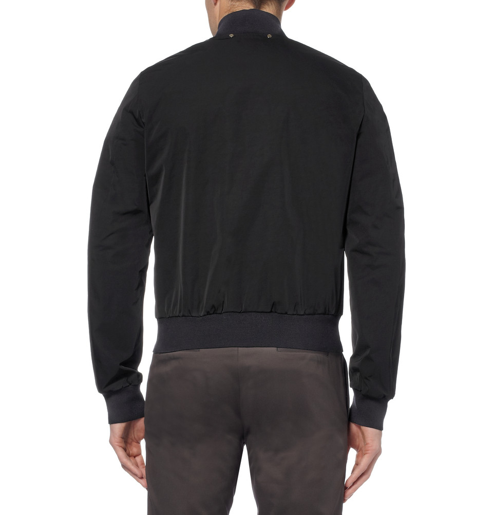 Paul Smith Technical Twill Bomber Jacket in Black for Men