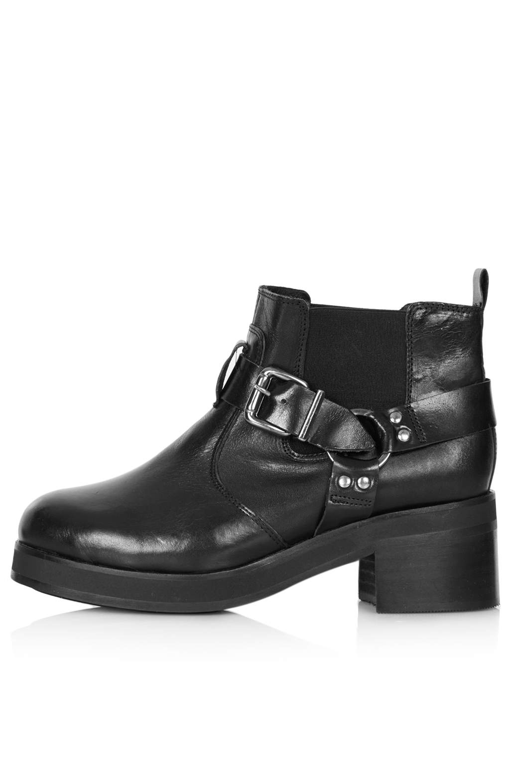 TOPSHOP Apricot Harness Boot in Black