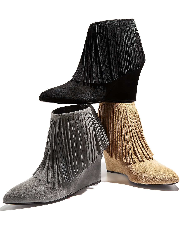 online Shop buy cheap deals Elyse Walker Suede Fringe Ankle Boots clearance 2014 newest 8ahVPOv