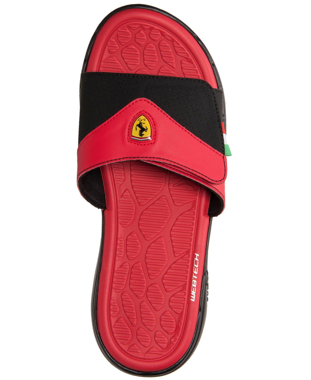 5d63aef947b Lyst - PUMA Men S Ferrari Slide Sandals From Finish Line in Red for Men