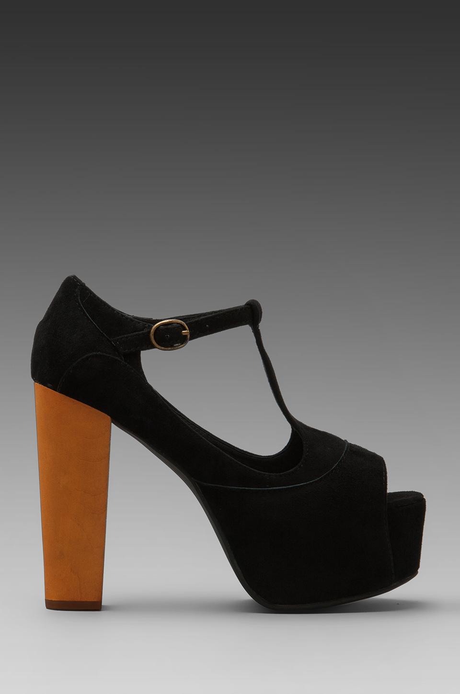 Lyst Jeffrey Campbell Foxy Platform W Wood Heel In Black