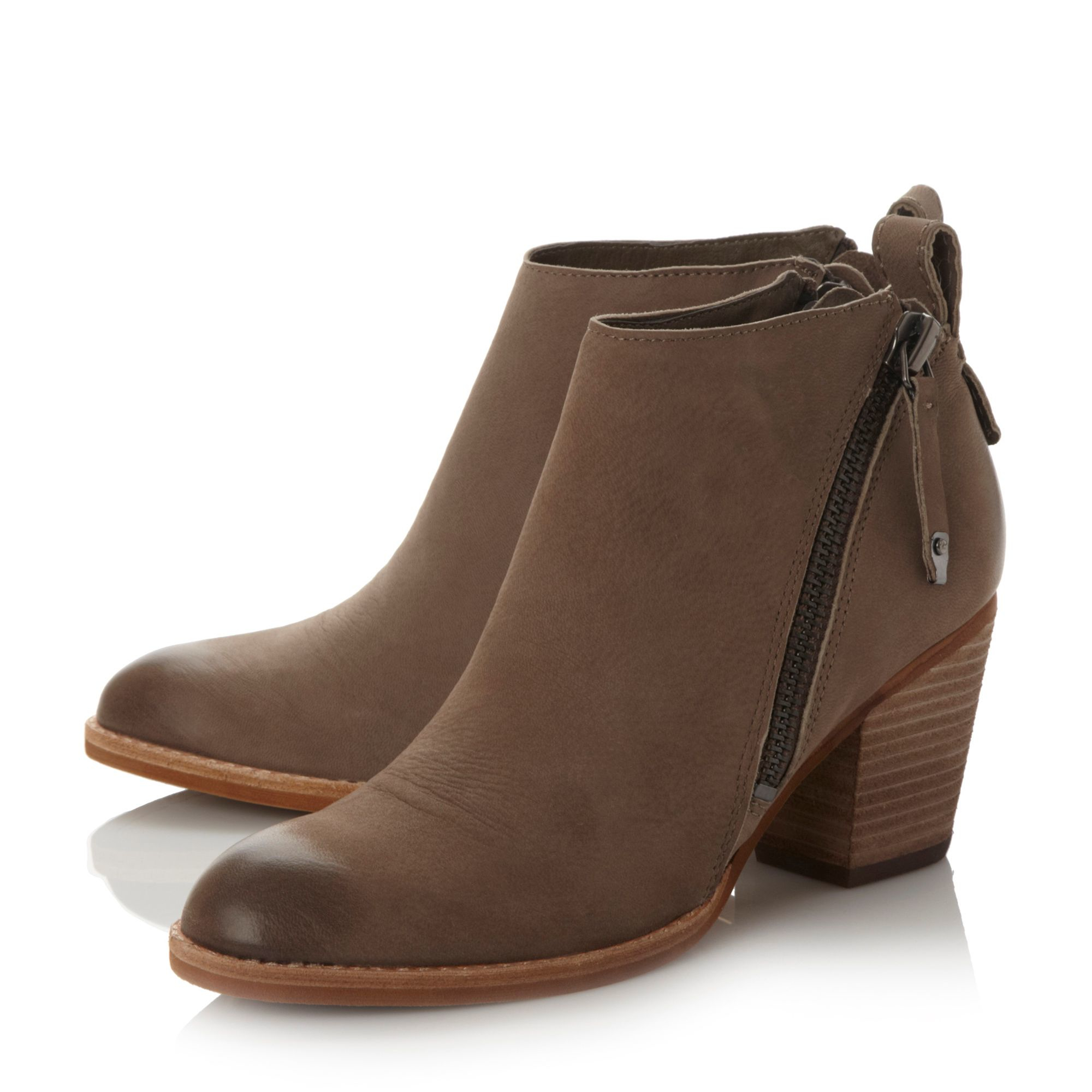dolce vita jaeger zip detail ankle boots in brown lyst