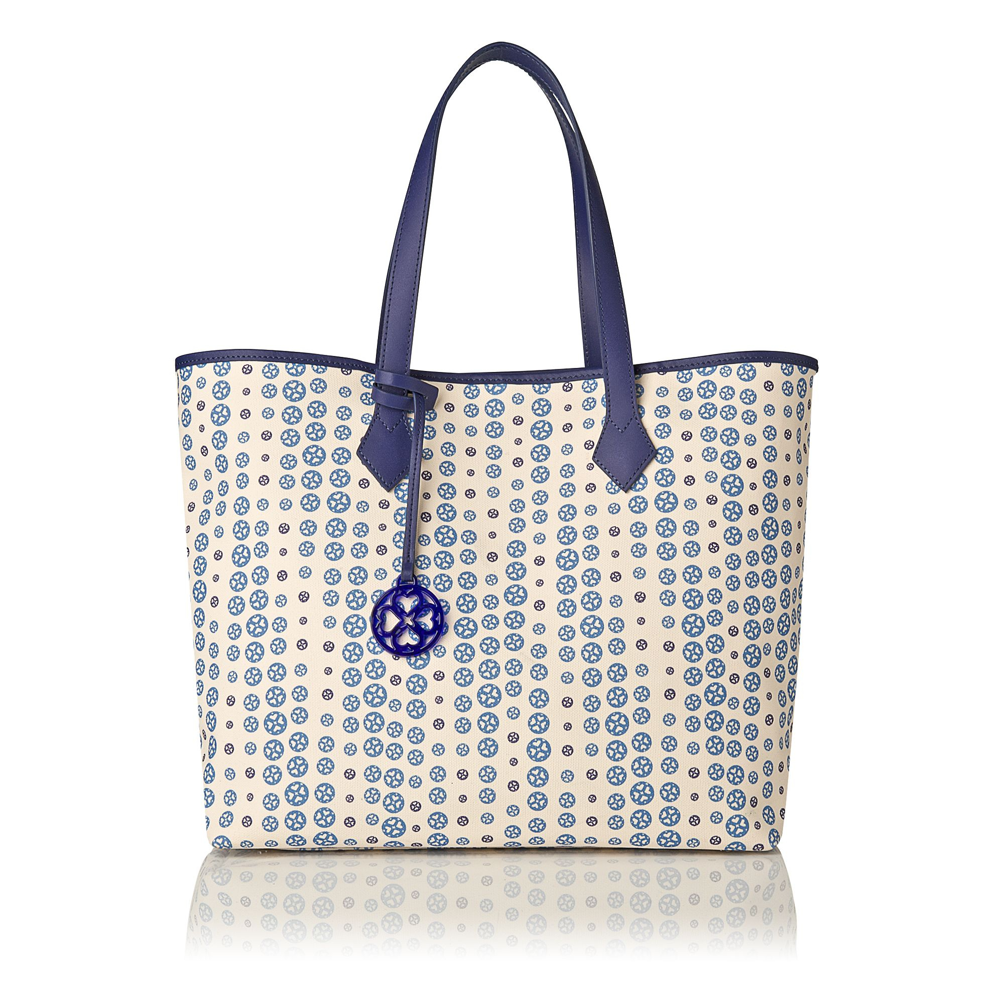 L.K.Bennett Hoxton Large Winged Tote Bag in Blue