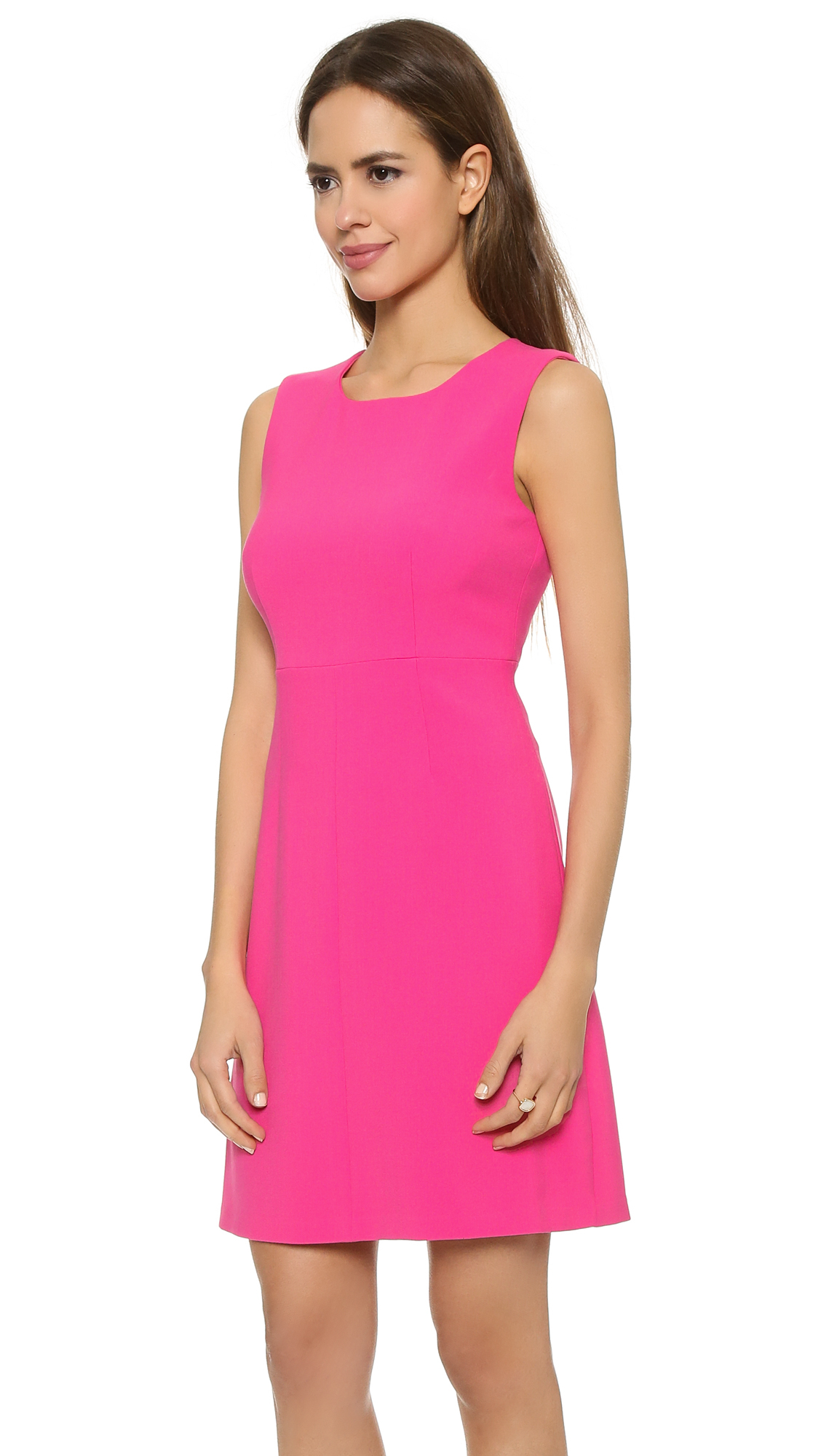 Diane von furstenberg pink dress dress yp for Diane von furstenberg clothes
