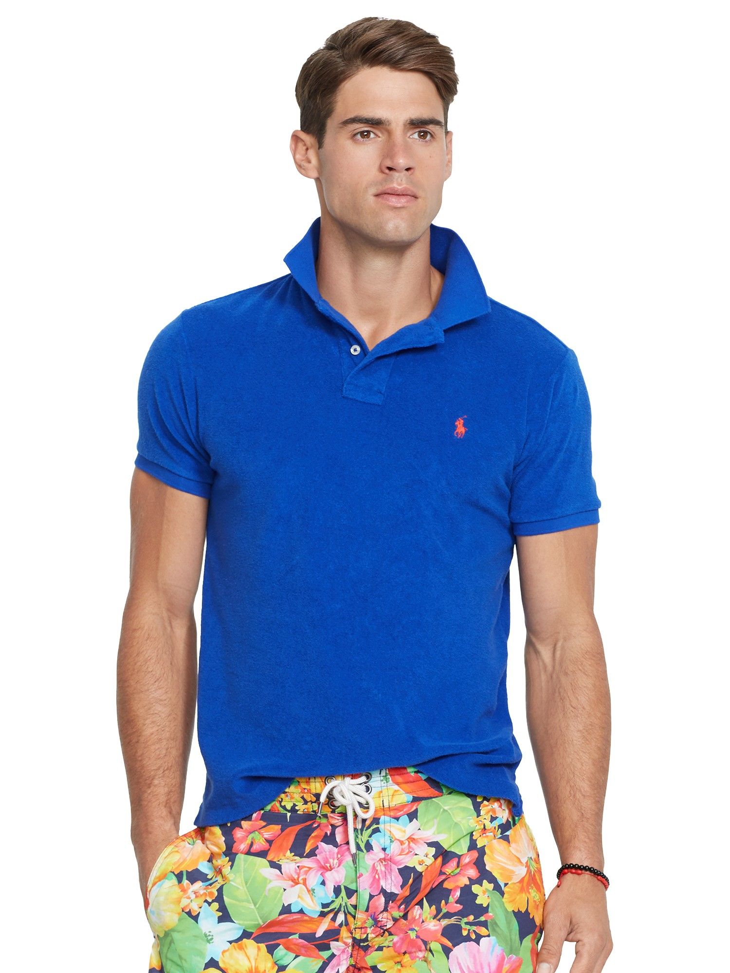 Blue Custom Polo Cloth Men Terry In Ralph For Shirt Lauren Fit dWCexBor