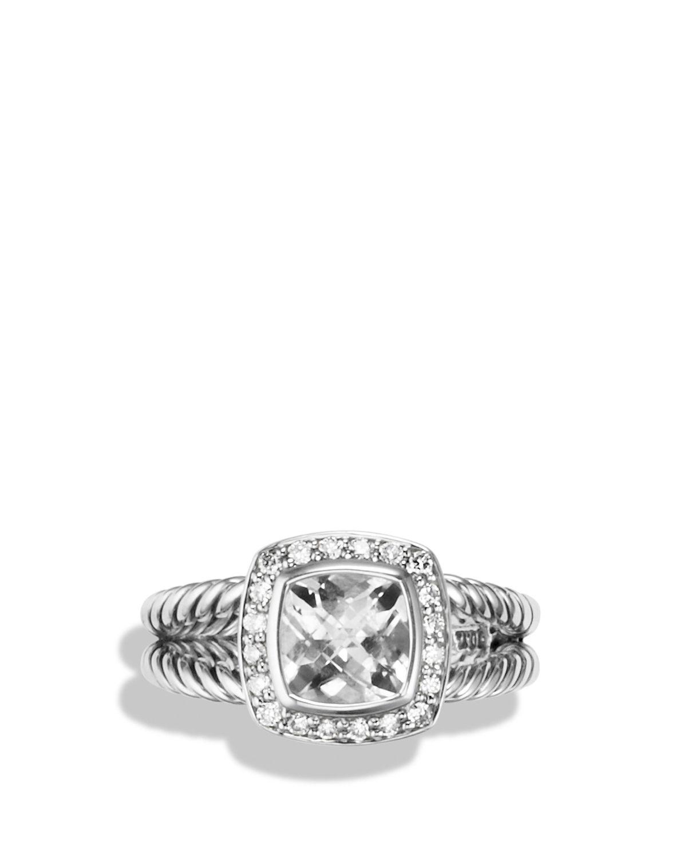 david yurman womenu0027s petite albion ring with white topaz u0026 diamonds