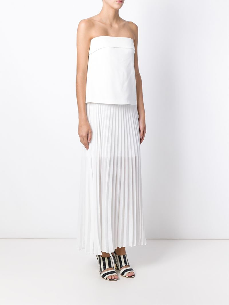 A.l.c. Pleated Strapless Dress in White  Lyst