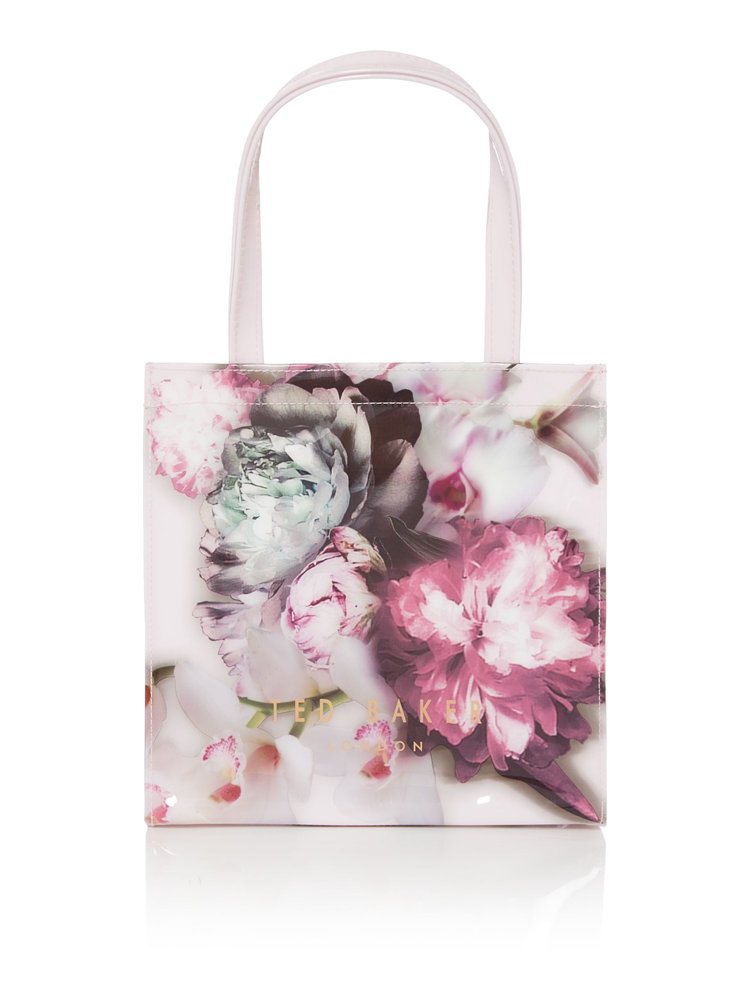 Lyst - Ted Baker Shelcon Pink Floral Small Bowcon Tote Bag In Pink