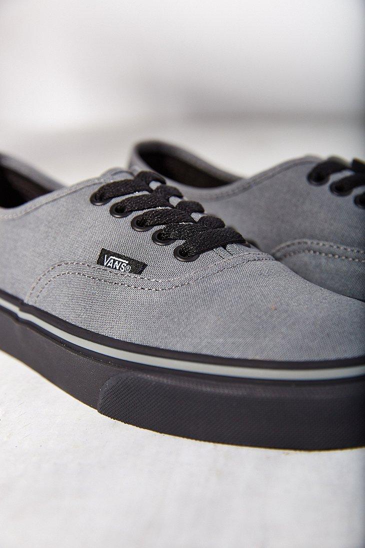 Lyst - Vans Authentic Black Sole Sneaker in Gray 6895414fdbd4