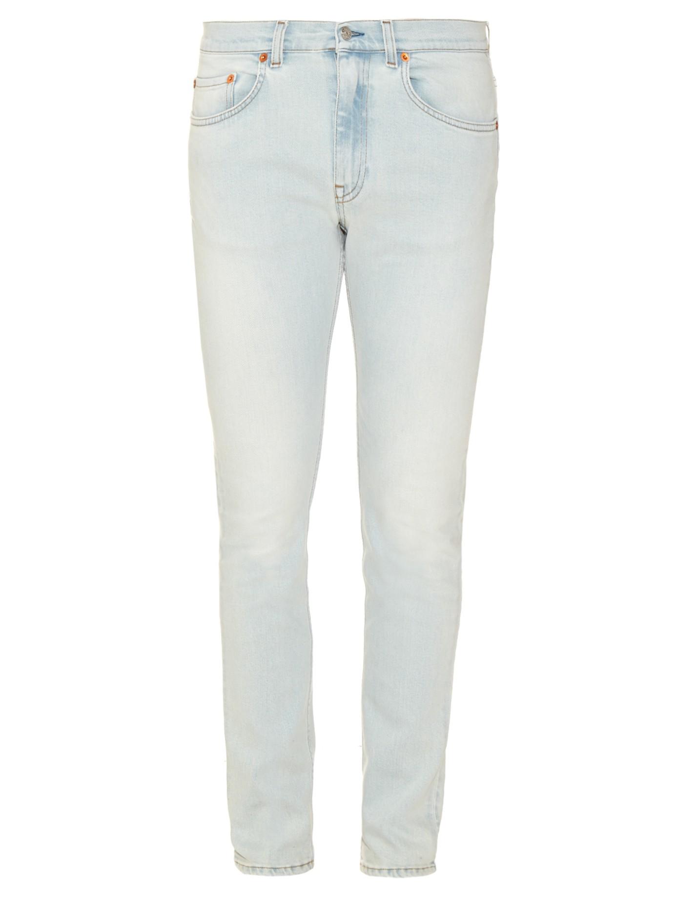 Acne Studios Ace Bleach Skinny Jeans In Blue For Men Lyst