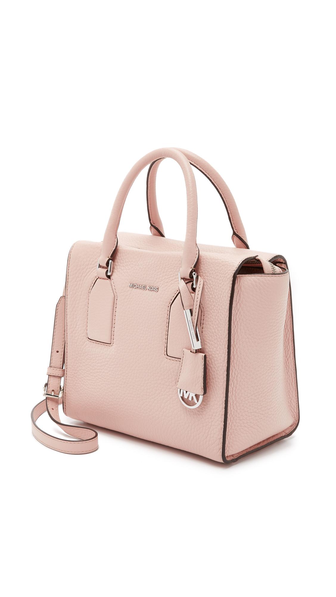 383073a6b5f5d ... order lyst michael michael kors selby medium satchel in pink 28bbc da9eb