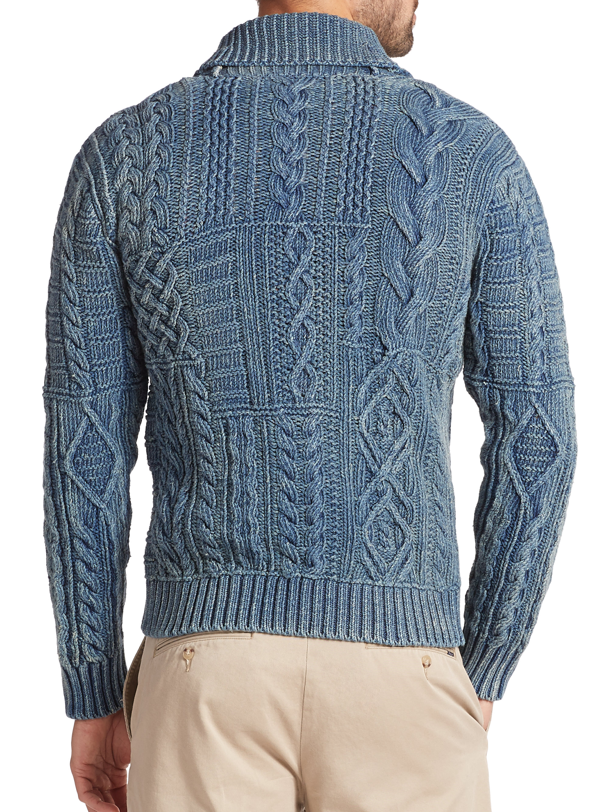 5350cfd9875 Polo Ralph Lauren Mens Polo Bear Cable Knit Sweater