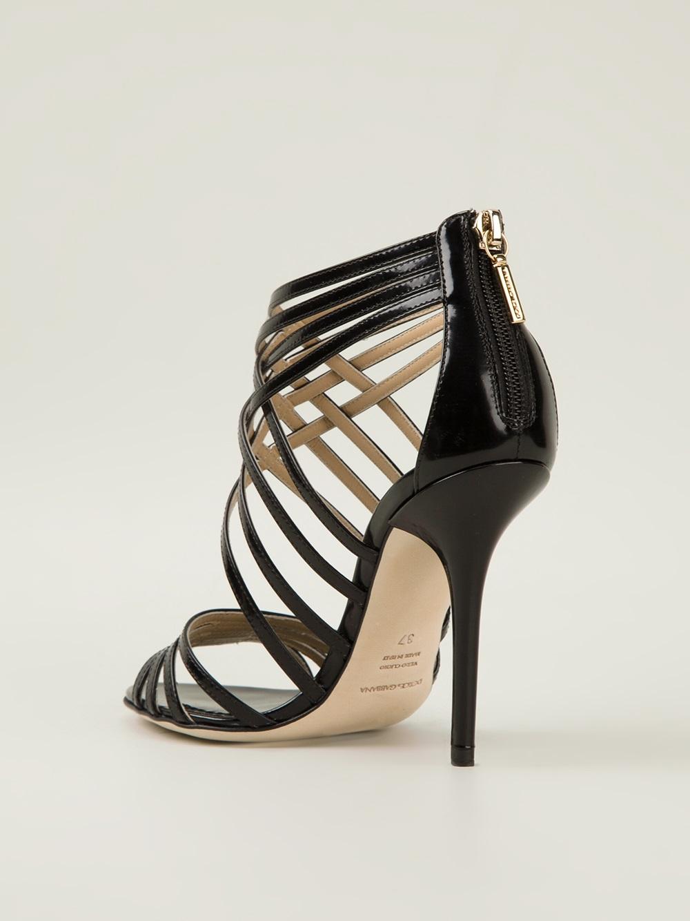 Lyst Dolce Amp Gabbana High Heel Sandals In Black