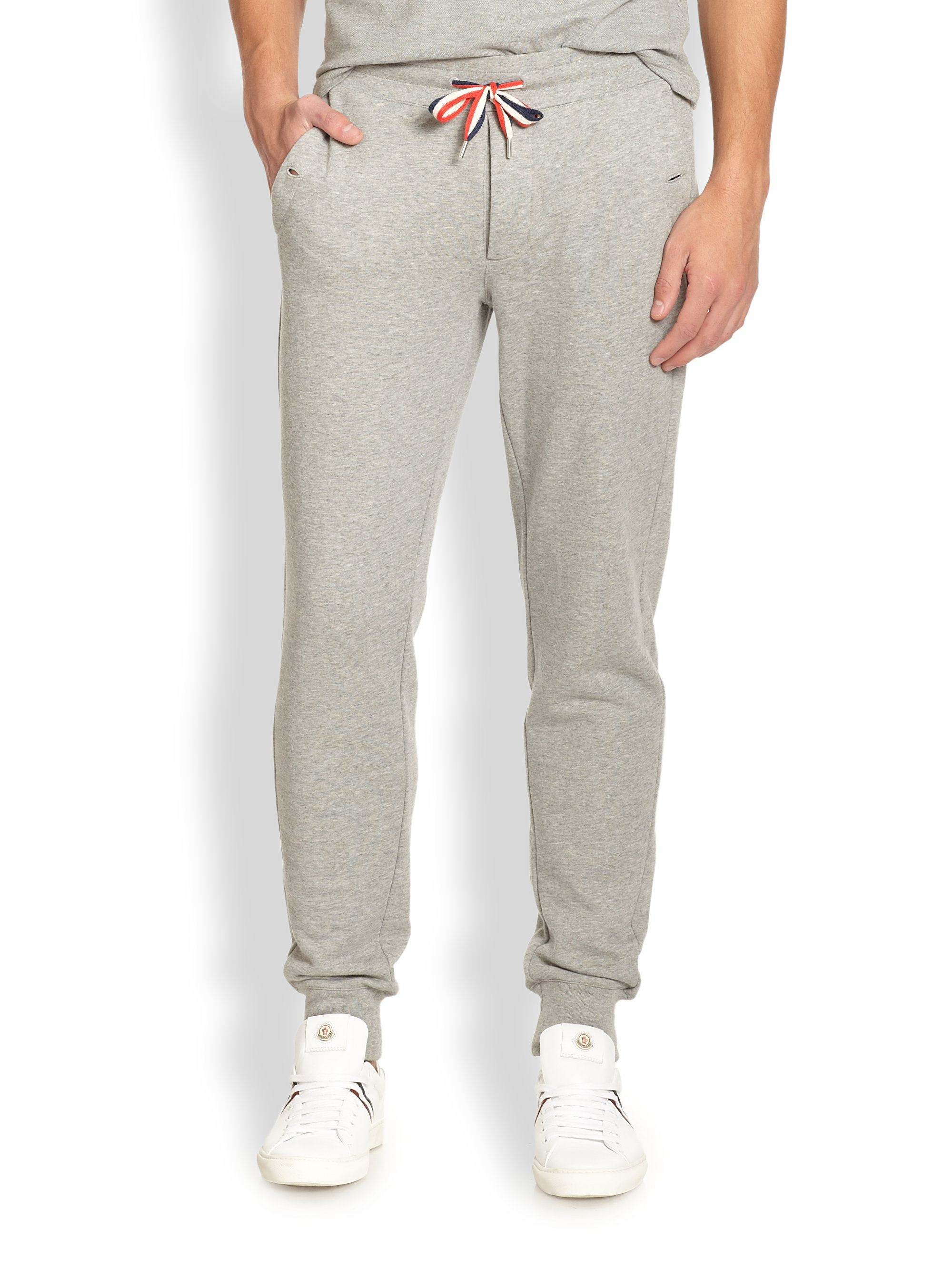 f7cfbc349aac Lyst - Moncler Drawstring Sweatpants in Gray for Men