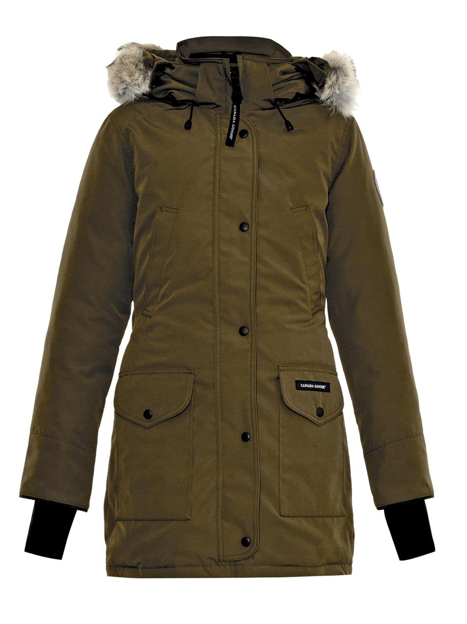 Canada Goose Trillium Fur Trimmed Down Parka In Green Lyst