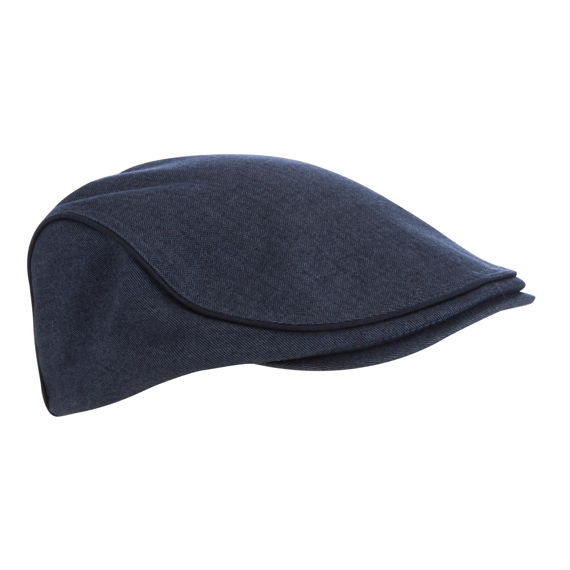 35e2177bfbe Ted Baker Pherlop Cotton Herringbone Flat Cap in Blue for Men - Lyst