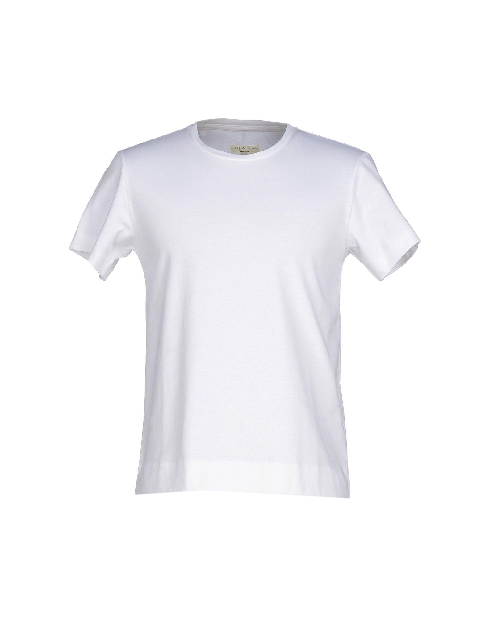 Rag bone t shirt in white for men lyst for Rag and bone white t shirt
