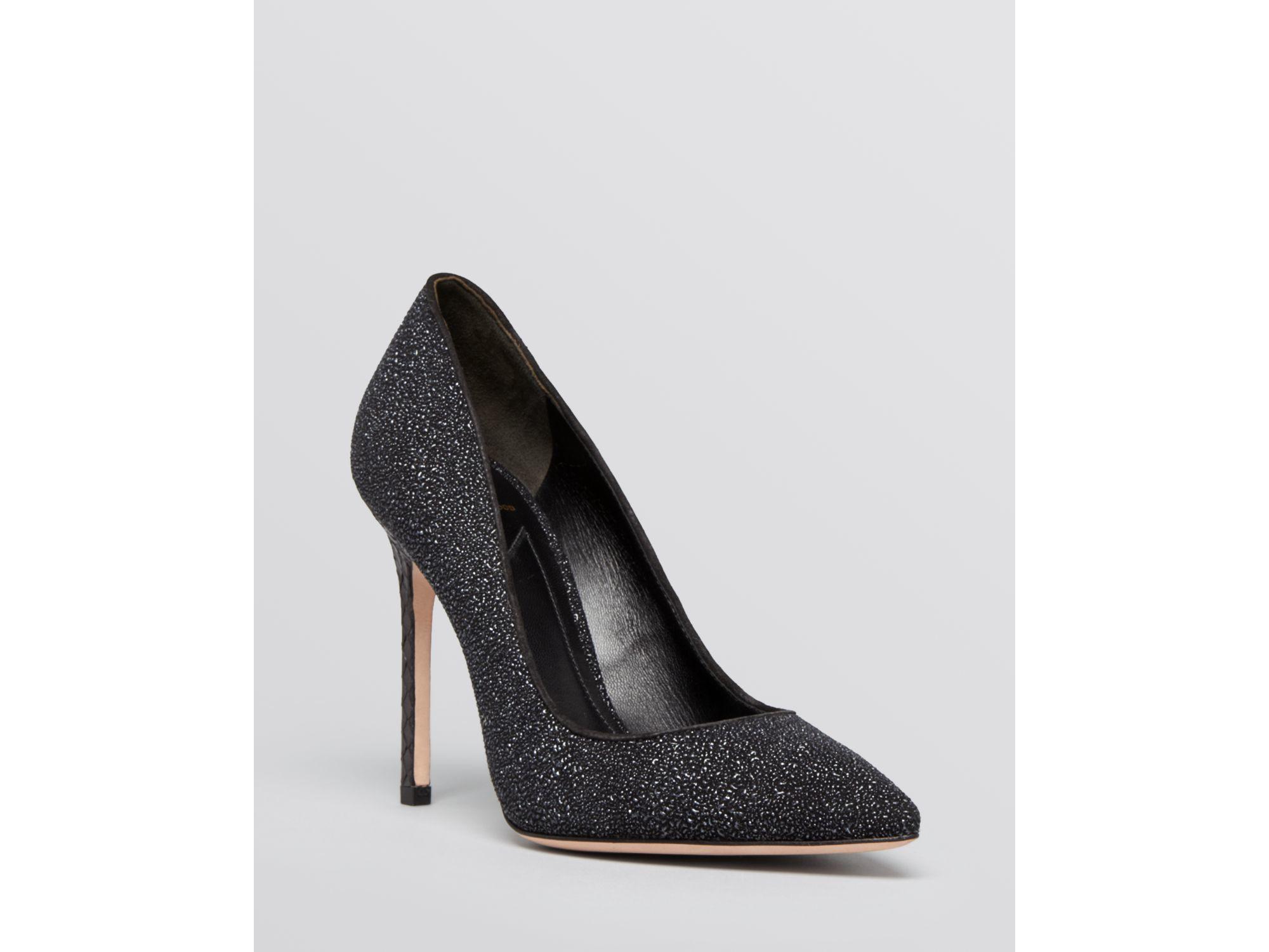 faabfe5b66b B Brian Atwood Black Pointed Toe Evening Pumps - Naina Sugar Textured High  Heel