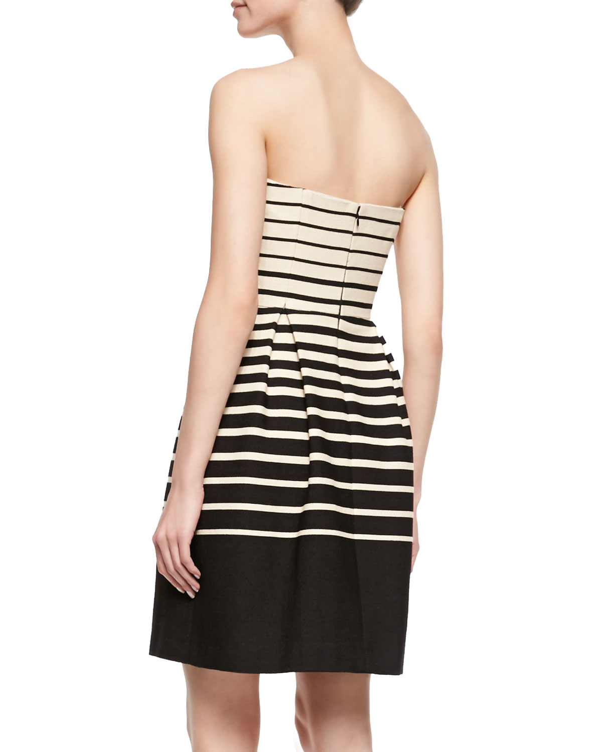 Strapless Striped Dress