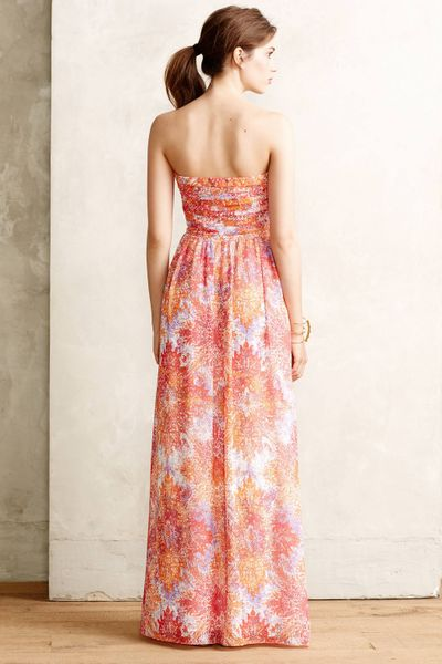 Anthropologie vernalis maxi dress in red red motif lyst for Anthropologie mural maxi dress