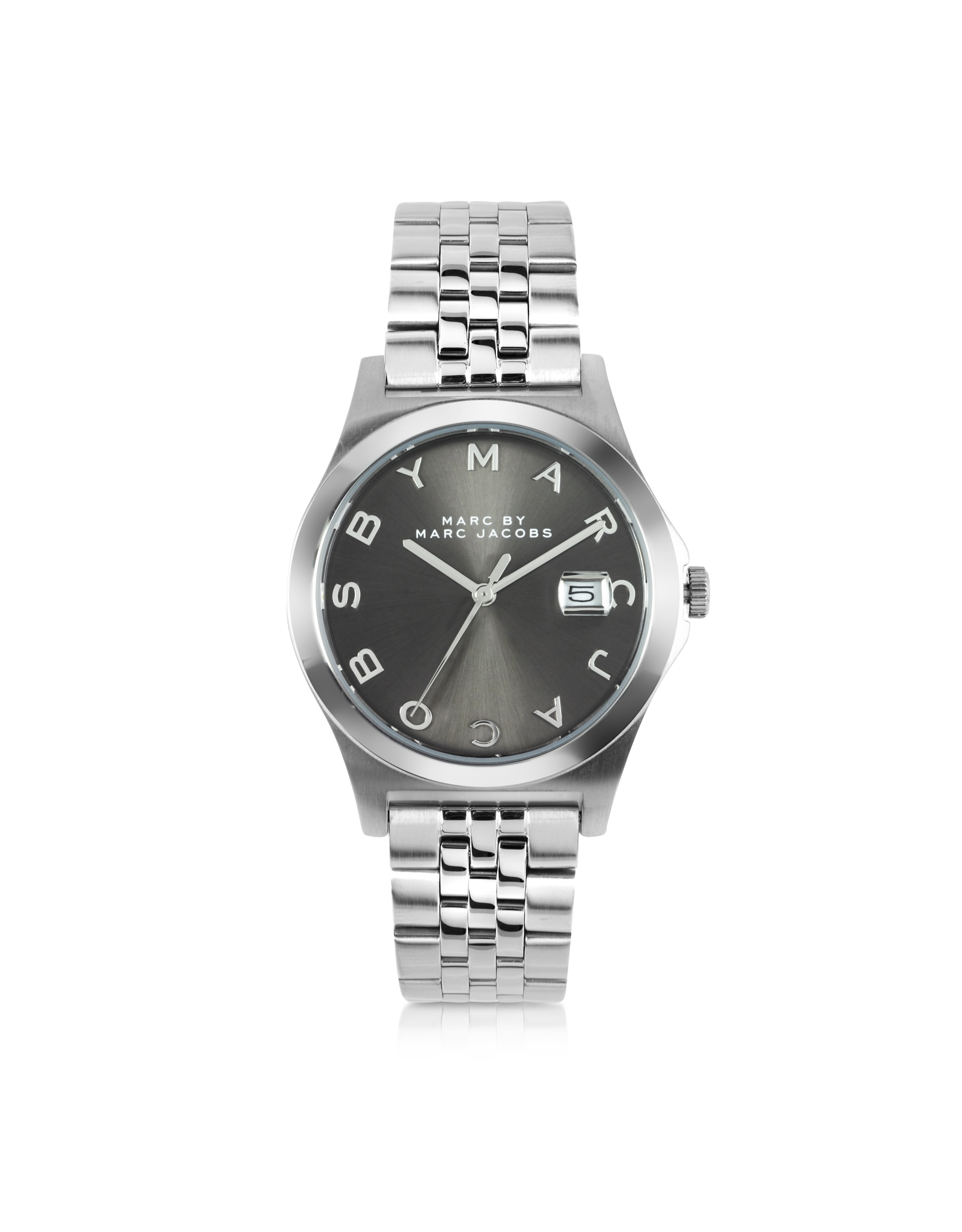 56d4d7d7193f4 Marc By Marc Jacobs The Slim Bracelet 36Mm Silver Tone Stainless ...