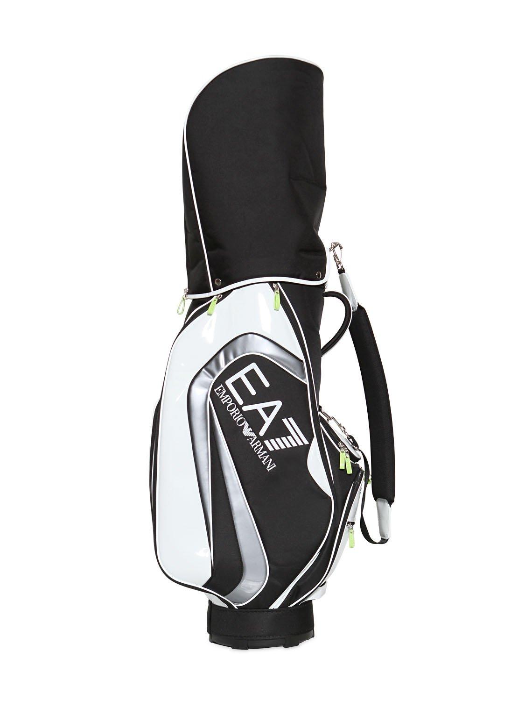 aa05db2b4dc Emporio Armani Patent Faux Leather Golf Club Bag in Black - Lyst
