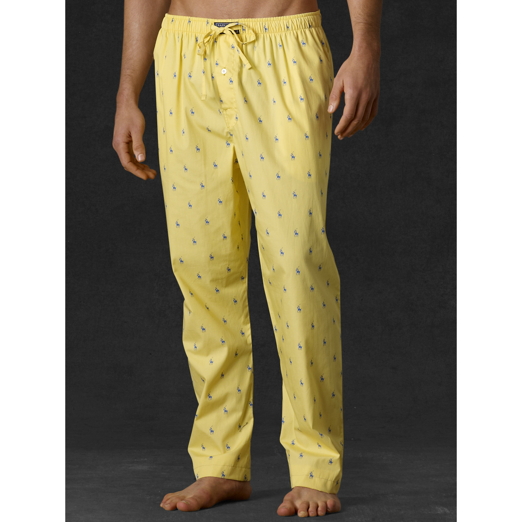 65ec6fe2aa Ralph Lauren Yellow Allover Pony Sleep Pant for men