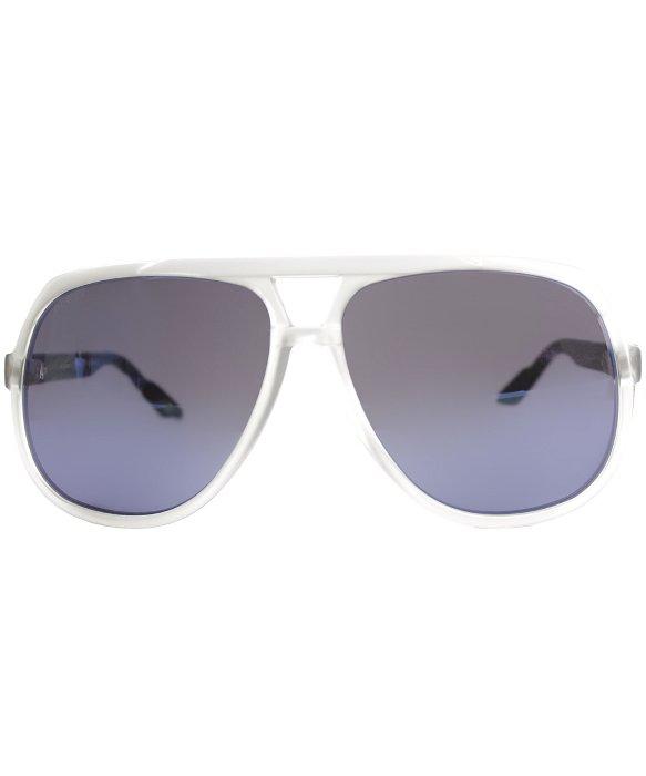 419b90a4885 Lyst - Gucci Gg 1622 U75 Xt Matte Crystal Blue Plastis Aviator ...