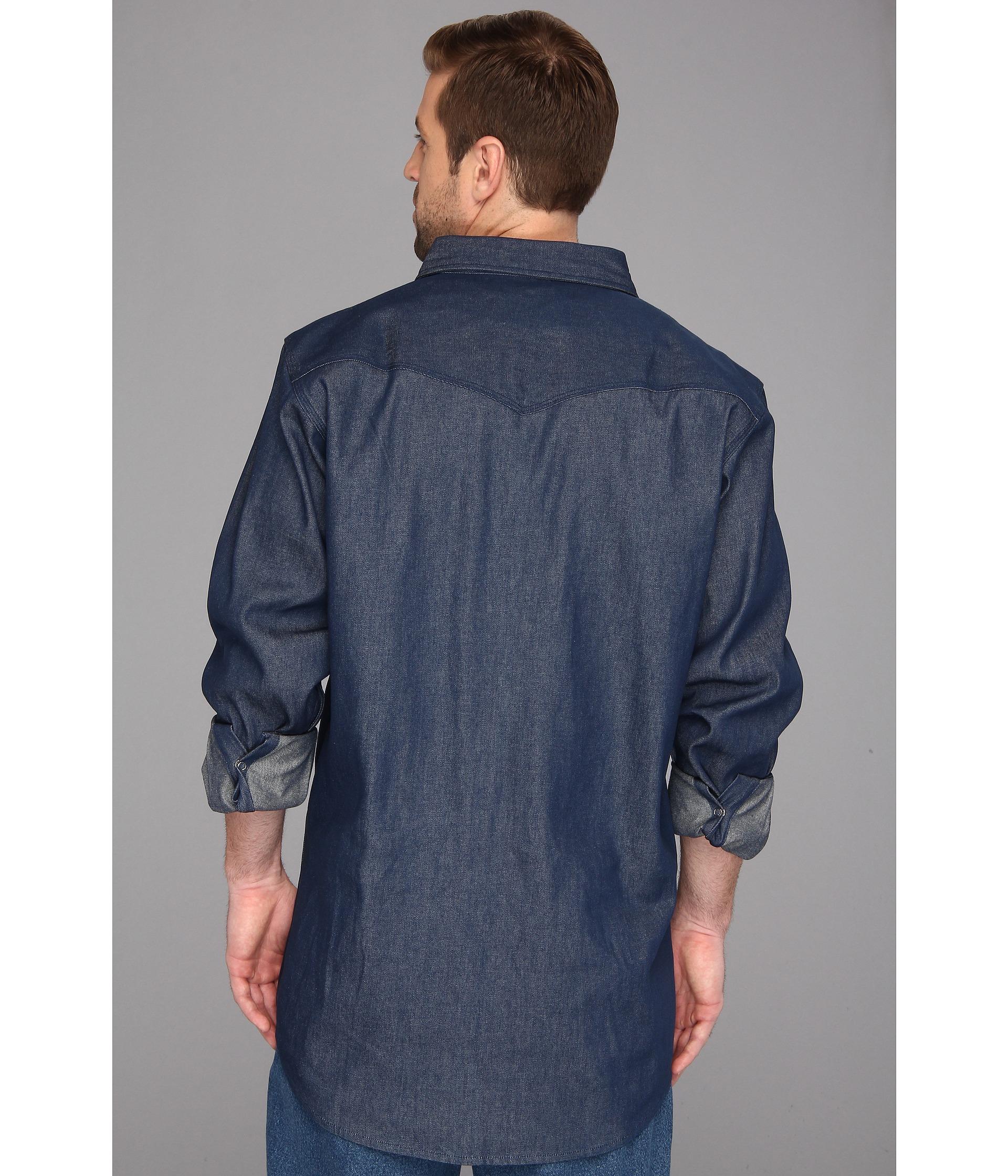 e2294487c2e Lyst - Carhartt Ironwood Denim Work Shirt - Tall in Blue for Men