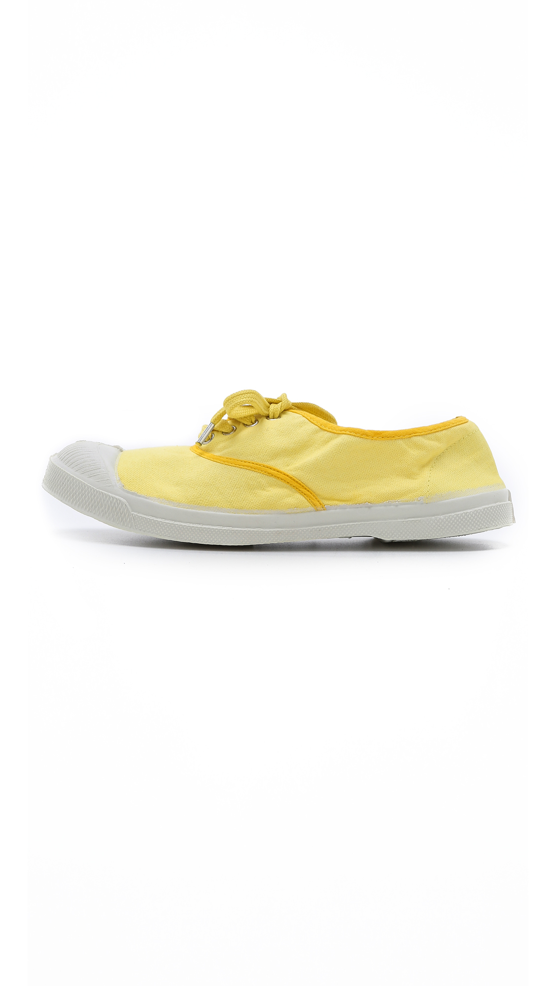 Bensimon Tennis Yellow Color Lyst Piping Sneakers In SpVUzM