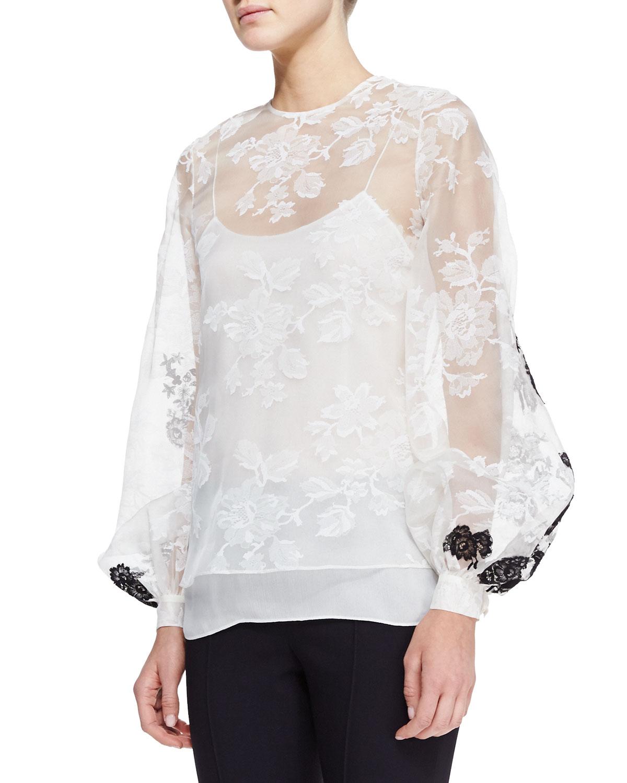 White Lace Blouse Long Sleeve Photo Album - Reikian